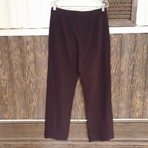 Eileen Fisher brown wide leg pants size M